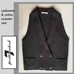 Like new 7 for all Mankind cotton/cashmere sweater vest